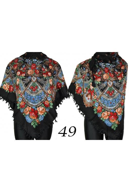 Czarna modna chusta ludowa titofirma