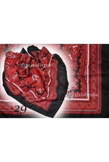 Czarno czerwona chusta ludowa titofirma