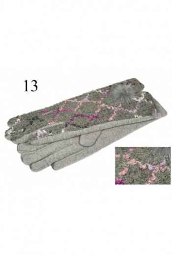Beżowe rękawiczki w pasy