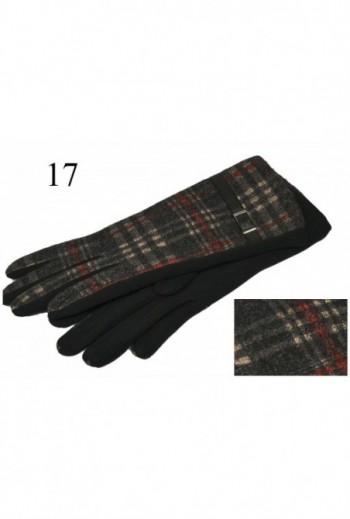 Eleganckie rękawiczki w kratke