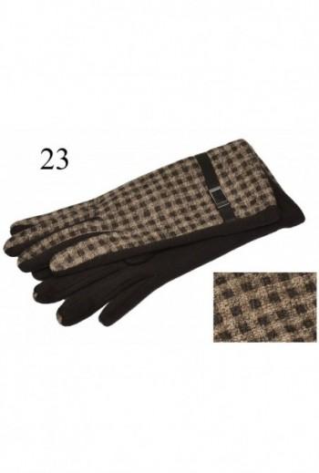 Damskie  rękawiczki w kratę