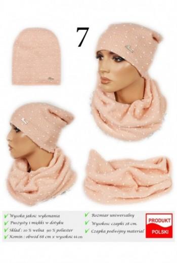 Zimowy damski komplet czapka i komin Titofirma