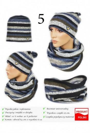 Komplet na zimę czapka i komin Kielce Titofirma