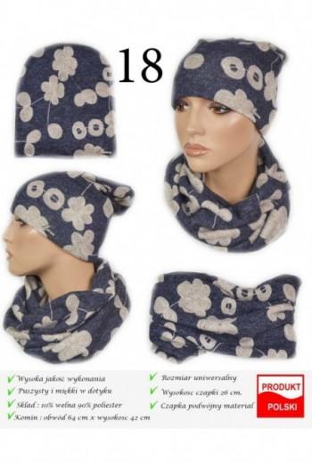 Zestaw zimowy Komin i czapka- WZÓR- TitoFirma