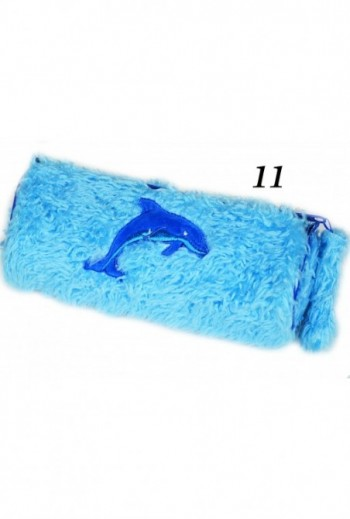 Piórnik niebieski z delfinem