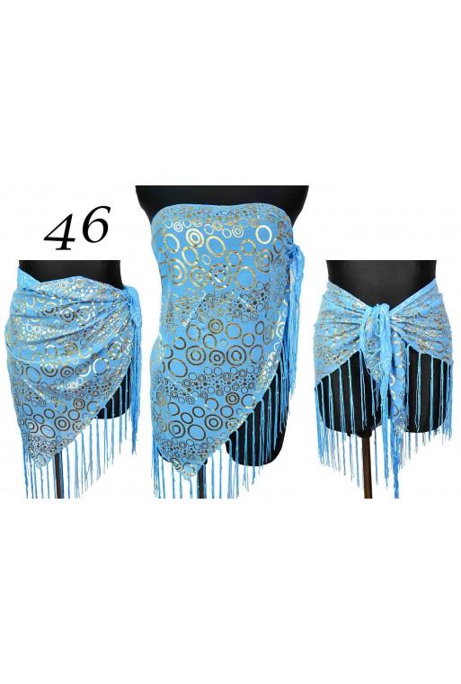 Piękne niebieskie Pareo Trójkątne w kółka titofirma