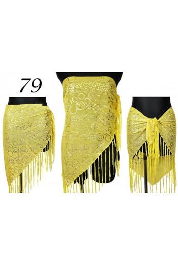 Eleganckie żółte Pareo Trójkątna  chusta na plażę titofirma