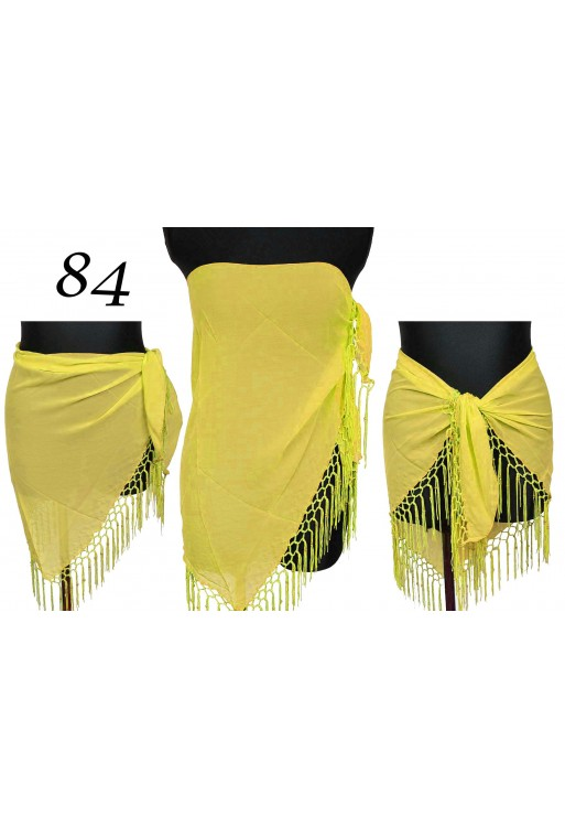 Gładkie Pareo Trójkątne damskie żółte titofirma