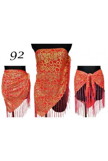 Czerwona chusta plażowa Trójkątna titofirma