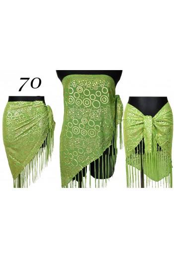 Elegancka zielona chusta plażowa Pareo Trójkąt titofirma