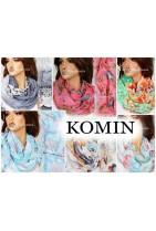 Kolorowy cieniowany w bardzo modne nowe wzory Komin damski na szyję.