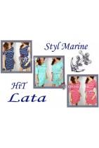 Tunika w marynarskim stylu zawsze na topie.Idealna na wakację na plażę